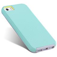 お買い得  -ケース 用途 Apple iPhone SE / 5s / iPhone 5 耐衝撃 / 超薄型 バックカバー ソリッド ハード TPU / PC