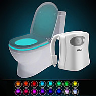 cheap LED Novelty Lights-HKV® 16 Color Wireless Human Infrared Activated Motion Sensor PIR LED Toilet Lamp Battery Powered Night Light Home Bathroom