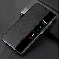 お買い得  携帯電話ケース-ケース 用途 Huawei Mate 10 pro / Mate 10 ウィンドウ付き / フリップ / 半透明 フルボディーケース ソリッド ハード PUレザー のために Mate 10 / Mate 10 pro / Mate 9