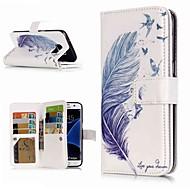 Недорогие Чехлы и кейсы для Galaxy S8-Кейс для Назначение SSamsung Galaxy S9 Plus / S8 Кошелек / Бумажник для карт / со стендом Чехол  Перья Твердый Кожа PU для S9 / S9 Plus / S8 Plus