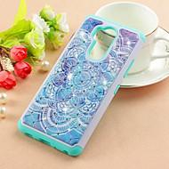 preiswerte Handyhüllen-Hülle Für LG LG Stylo 4 / LG Q7 Strass / Muster Rückseite Mandala Hart PU-Leder für LG Q Stylus / LG Stylo 4 / LG Q7