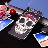 Недорогие Кейсы для iPhone 8-Кейс для Назначение Apple iPhone XS / iPhone XS Max С узором Кейс на заднюю панель Черепа Мягкий ТПУ для iPhone XS / iPhone XR / iPhone XS Max