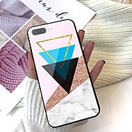 Недорогие Кейсы для iPhone 8 Plus-Кейс для Назначение Apple iPhone X / iPhone 8 Plus С узором Кейс на заднюю панель Геометрический рисунок / Мрамор Твердый Закаленное стекло для iPhone X / iPhone 8 Pluss / iPhone 8