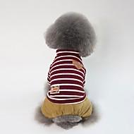 abordables -Chiens Manteaux Vêtements pour Chien Rayure / Personnage / Britannique Rouge / Vert Coton Costume Pour les animaux domestiques Unisexe Style Mignon / Décontracté / Quotidien