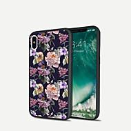 Недорогие Кейсы для iPhone 8-Кейс для Назначение Apple iPhone X / iPhone 8 Plus Прозрачный Кейс на заднюю панель Цветы Мягкий ТПУ для iPhone X / iPhone 8 Pluss / iPhone 8