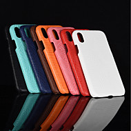Case For Apple iPhone XR / iPhone XS Max Frosted Back Cover Solid Colored Hard PU Leather for iPhone XS / iPhone XR / iPhone XS Max