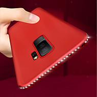 Недорогие Чехлы и кейсы для Galaxy S8 Plus-Кейс для Назначение SSamsung Galaxy S9 Plus / S9 Ультратонкий / Матовое Кейс на заднюю панель Стразы Мягкий ТПУ для S9 / S9 Plus / S8 Plus