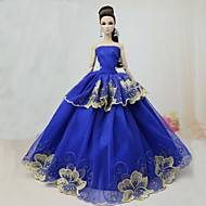 cheap Dolls & Stuffed Toys-Party / Evening Dresses For Barbie Doll Polyester Dress For Girl's Doll Toy