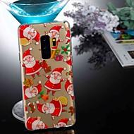 Недорогие Чехлы и кейсы для Galaxy S8-Кейс для Назначение SSamsung Galaxy S9 Plus / S8 Прозрачный / С узором Кейс на заднюю панель Рождество Мягкий ТПУ для S9 / S9 Plus / S8 Plus