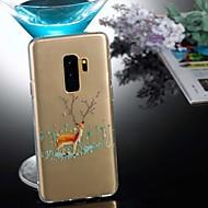 Недорогие Чехлы и кейсы для Galaxy S7 Edge-Кейс для Назначение SSamsung Galaxy S9 Plus / S8 Прозрачный / С узором Кейс на заднюю панель Животное / Рождество Мягкий ТПУ для S9 / S9 Plus / S8 Plus