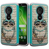 お買い得  携帯電話ケース-ケース 用途 Motorola MOTO G6 / Moto G6 Play 耐衝撃 / ラインストーン / パターン バックカバー フクロウ / ラインストーン ハード PC のために MOTO G6 / Moto G6 Play / Moto E5 Play