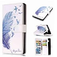 Недорогие Чехлы и кейсы для Galaxy Note-Кейс для Назначение SSamsung Galaxy Note 9 / Note 8 / Note 5 Кошелек / Бумажник для карт / со стендом Чехол Перья Твердый Кожа PU для Note 9 / Note 8 / Note 5