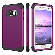 cheap Samsung Accessories-BENTOBEN Case For Samsung Galaxy S7 Shockproof Full Body Cases Solid Colored Hard Silicone / PC for S7