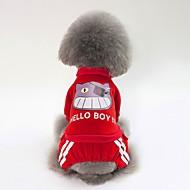 abordables -Chiens Sweatshirt Vêtements pour Chien simple / Britannique Bleu de minuit / Rouge / Rose Coton Costume Pour les animaux domestiques Unisexe Style Mignon / Guêtres
