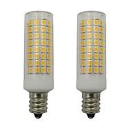 お買い得  LED コーン型電球-5w e12 ledコーンライト102 leds 2835 smd家庭用照明ファンシャンデリアac 220-240v暖かい/冷たい白(2個)