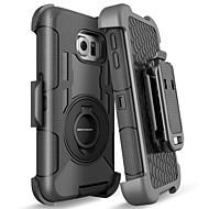 Недорогие Чехлы и кейсы для Galaxy S-BENTOBEN Кейс для Назначение SSamsung Galaxy S8 Защита от удара / Кольца-держатели / Матовое Чехол Однотонный Твердый Силикон / ПК для S8 / S6