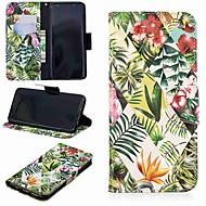 Недорогие Чехлы и кейсы для Galaxy S9 Plus-Кейс для Назначение SSamsung Galaxy S9 Plus / S8 Кошелек / Бумажник для карт / со стендом Чехол Растения Твердый Кожа PU для S9 / S9 Plus / S8 Plus