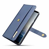Недорогие Чехлы и кейсы для Galaxy Note 8-Кейс для Назначение SSamsung Galaxy Note 9 / Note 8 Бумажник для карт / Защита от удара / Флип Чехол Однотонный Твердый Кожа PU для Note 9 / Note 8