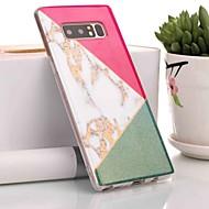 Недорогие Чехлы и кейсы для Galaxy Note-Кейс для Назначение SSamsung Galaxy Note 9 / Note 8 IMD / С узором Кейс на заднюю панель Мрамор Мягкий ТПУ для Note 9 / Note 8
