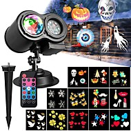abordables Focos LED-KWB 1pc 12 W Focos LED Impermeable / Control remoto / Regulable Multicolor 100-240 V Iluminación Exterior / Patio / Jardín 12 Cuentas LED