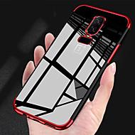 お買い得  携帯電話ケース-ケース 用途 OnePlus OnePlus 6 / OnePlus 5T メッキ仕上げ / クリア バックカバー ソリッド ソフト TPU のために OnePlus 6 / OnePlus 5T