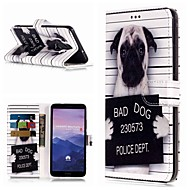 お買い得  携帯電話ケース-ケース 用途 Huawei Mate 10 lite / Mate 9 Pro ウォレット / カードホルダー / スタンド付き フルボディーケース 犬 ハード PUレザー のために Mate 10 / Mate 10 pro / Mate 10 lite