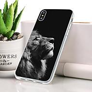 billige -Etui Til Apple iPhone XR Støvsikker / Ultratyndt / Mønster Bagcover Dyr / Løve Blødt TPU for iPhone XR