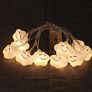 cheap -1m String Lights 10 LEDs Warm White Decorative AA Batteries Powered 1 set