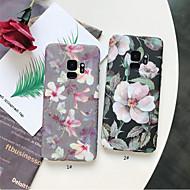 Недорогие Чехлы и кейсы для Galaxy S8 Plus-Кейс для Назначение SSamsung Galaxy S9 Plus / S9 Матовое / С узором Кейс на заднюю панель Цветы Твердый ПК для S9 / S9 Plus / S8 Plus