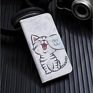 Недорогие Кейсы для iPhone 8 Plus-Кейс для Назначение Apple iPhone XR / iPhone XS Max Кошелек / Бумажник для карт / со стендом Чехол Кот Твердый Кожа PU для iPhone XS / iPhone XR / iPhone XS Max