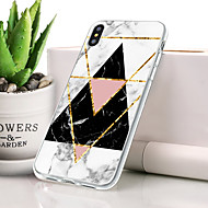 billige -Etui Til Apple iPhone XR Støvsikker / Ultratyndt / Mønster Bagcover Marmor Blødt TPU for iPhone XR