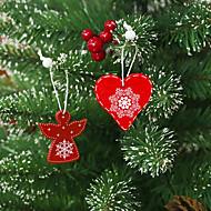 abordables -Décorations de vacances Décorations de Noël Décorations de Noël Décorative Blanc / Rouge / Rouge foncé 12 pcs