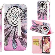 Недорогие Чехлы и кейсы для Galaxy S7-Кейс для Назначение SSamsung Galaxy S9 Plus / S9 Кошелек / Бумажник для карт / со стендом Чехол Ловец снов Твердый Кожа PU для S9 / S9 Plus / S8 Plus