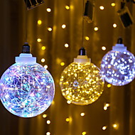 cheap -1m String Lights 3 LEDs Multi Color Decorative AA Batteries Powered 1 set