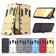 Недорогие Чехлы и кейсы для Galaxy S9 Plus-Кейс для Назначение SSamsung Galaxy S9 Plus Защита от удара / со стендом Кейс на заднюю панель Однотонный Твердый ПК для S9 Plus