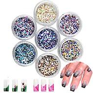 cheap -24 pcs Glitter Powder Sequins Multi Function / Best Quality Creative nail art Manicure Pedicure Daily Fashion