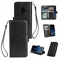 Недорогие Чехлы и кейсы для Galaxy S-Кейс для Назначение SSamsung Galaxy S9 Plus / S8 Кошелек / Бумажник для карт / Магнитный Чехол Однотонный Твердый Кожа PU для S9 / S9 Plus / S8 Plus