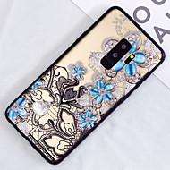 Недорогие Чехлы и кейсы для Galaxy S9-Кейс для Назначение SSamsung Galaxy S9 Plus / S9 Полупрозрачный / С узором Кейс на заднюю панель Цветы Твердый ПК для S9 / S9 Plus / S8 Plus