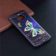 お買い得  携帯電話ケース-ケース 用途 Motorola MOTO G6 / Moto G6 Plus パターン バックカバー バタフライ ソフト TPU のために MOTO G6 / Moto G6 Plus / モトG5プラス