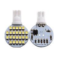 abordables Intermitentes para Coche-2pcs T10 Motocicleta / Coche Bombillas 1 W SMD 3528 80 lm 24 LED Luz de Intermitente / Luces interiores Para Universal Universal Universal