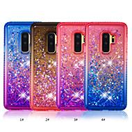 Недорогие Чехлы и кейсы для Galaxy S9 Plus-Кейс для Назначение SSamsung Galaxy S9 Plus / S9 Стразы / Движущаяся жидкость Кейс на заднюю панель Градиент цвета Мягкий ТПУ для S9 / S9 Plus / S8 Plus