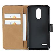 お買い得  携帯電話ケース-ケース 用途 LG K10 2018 / G7 ウォレット / カードホルダー / スタンド付き フルボディーケース ソリッド ハード 本革 のために LG X Style / LG V30 / LG V20