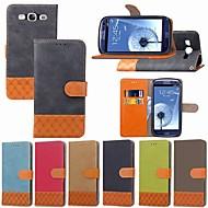 Недорогие Чехлы и кейсы для Galaxy S-Кейс для Назначение SSamsung Galaxy S9 Plus / S8 Plus Бумажник для карт / Защита от удара / со стендом Чехол Однотонный / Геометрический рисунок Твердый текстильный для S9 / S9 Plus / S8 Plus