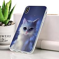 billige -Etui Til Apple iPhone XR Støvsikker / Ultratyndt / Mønster Bagcover Kat Blødt TPU for iPhone XR