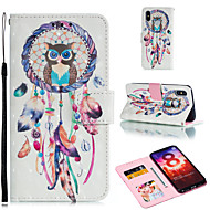 preiswerte Handyhüllen-Hülle Für Xiaomi Redmi 6 / Xiaomi Mi Max 3 Geldbeutel / Kreditkartenfächer / mit Halterung Ganzkörper-Gehäuse Eule / Traumfänger Hart PU-Leder für Xiaomi Redmi Note 6 / Xiaomi Pocophone F1 / Redmi 6A
