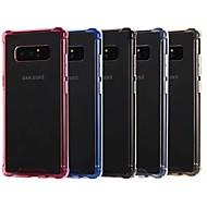 Недорогие Чехлы и кейсы для Galaxy Note 8-Кейс для Назначение SSamsung Galaxy Note 9 / Note 8 Защита от удара / Прозрачный Кейс на заднюю панель Однотонный Мягкий Акрил для Note 9 / Note 8