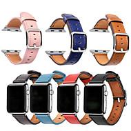 billige -Urrem for Apple Watch Series 4/3/2/1 Apple Sportsrem Ægte læder Håndledsrem