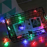 billige -BRELONG® 3M Lysslynger 20 lysdioder SMD 0603 Varm hvid / RGB / Hvid Vandtæt / Kreativ / Fest Batterier Powered 1pc