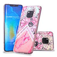 お買い得  携帯電話ケース-ケース 用途 Huawei Huawei Mate 20 Lite / Huawei Mate 20 Pro パターン バックカバー フラワー / マーブル ソフト TPU のために Huawei Nova 3i / P smart / Huawei P Smart Plus