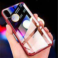 billige Etuier til iPhone XS Max-Etui Til Apple iPhone XR / iPhone XS Max Transparent Bagcover Ensfarvet Hårdt Tempereret glas for iPhone XS / iPhone XR / iPhone XS Max